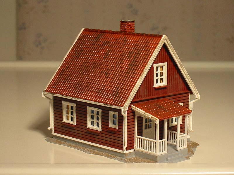Bygga modellhus är en kul hobby