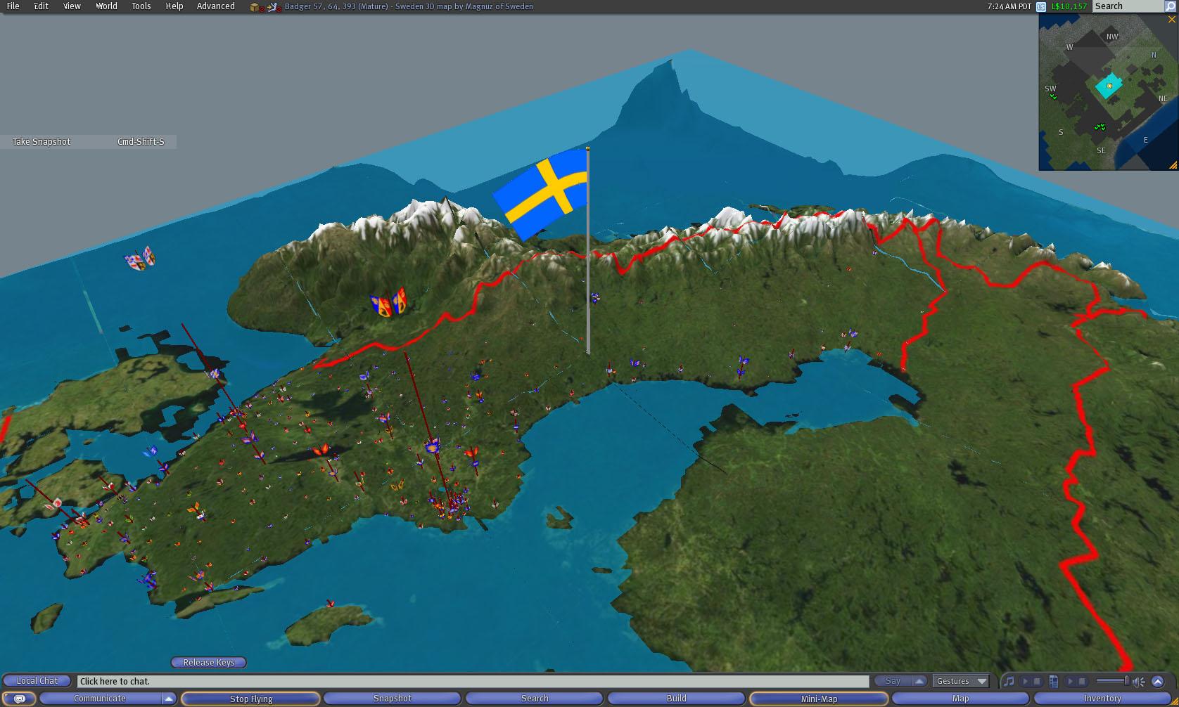 Magnuz Of Sweden Second Life Snapshots - Sweden map 3d